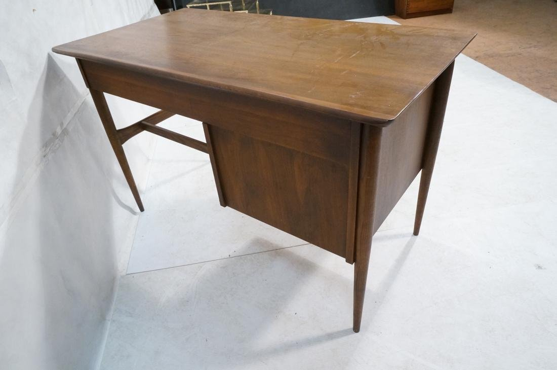 American Modern Walnut Desk. Tapered peg legs. Sl - 6