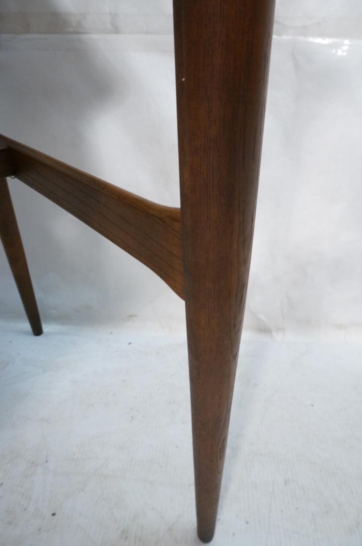 American Modern Walnut Desk. Tapered peg legs. Sl - 7