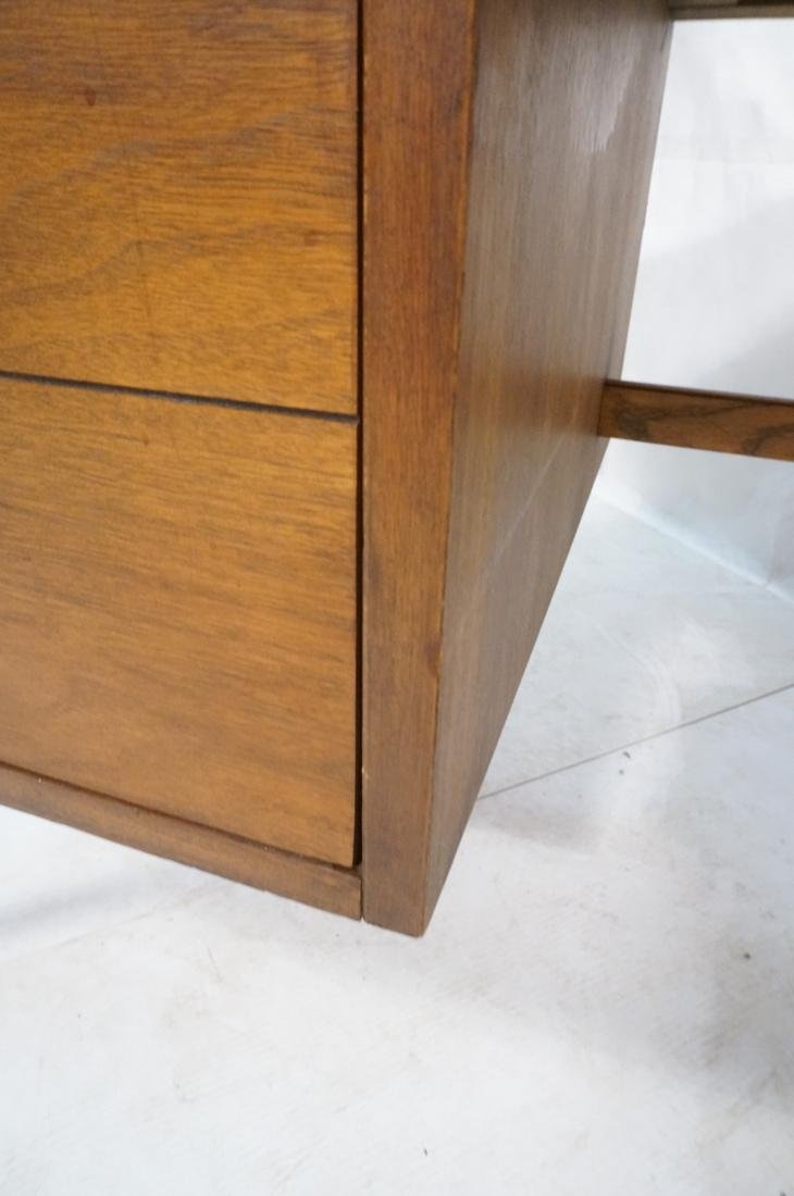 American Modern Walnut Desk. Tapered peg legs. Sl - 8