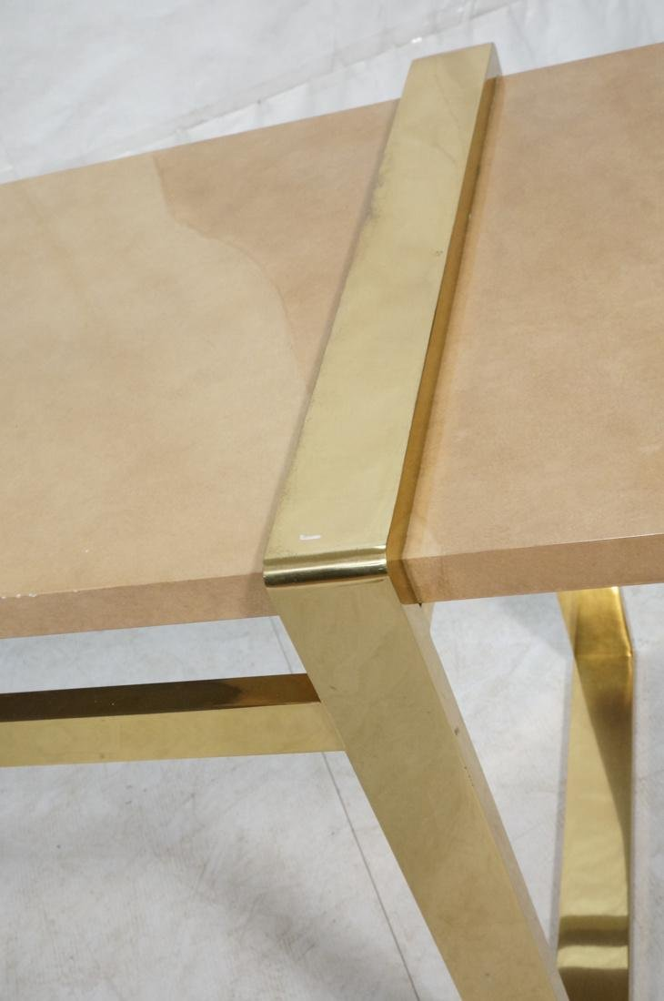 KARL SPRINGER Style Lacquer Brass Console Table. - 3