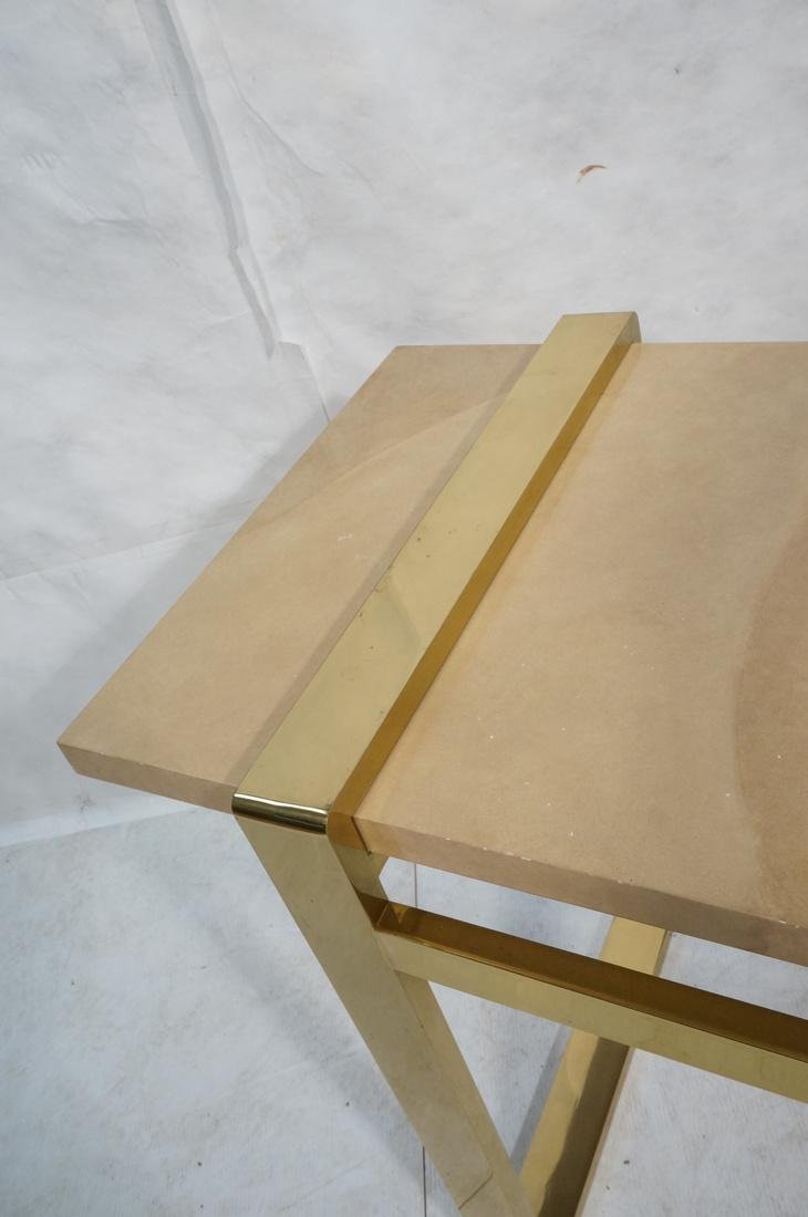 KARL SPRINGER Style Lacquer Brass Console Table. - 4