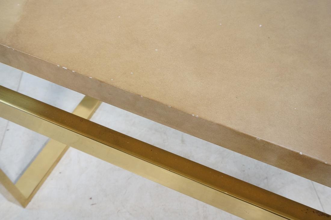 KARL SPRINGER Style Lacquer Brass Console Table. - 5