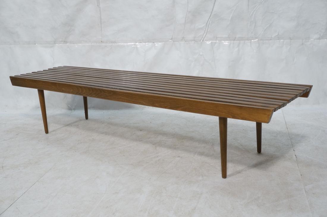 GEORGE NELSON Style American Modern Slat Bench. C