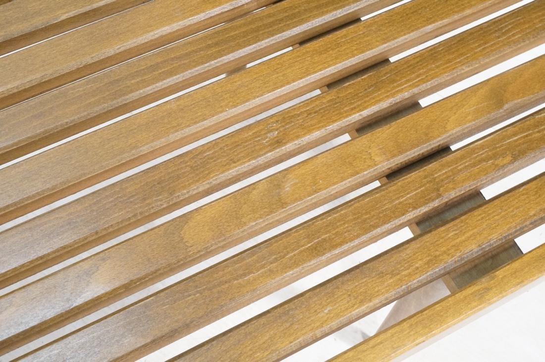 GEORGE NELSON Style American Modern Slat Bench. C - 5