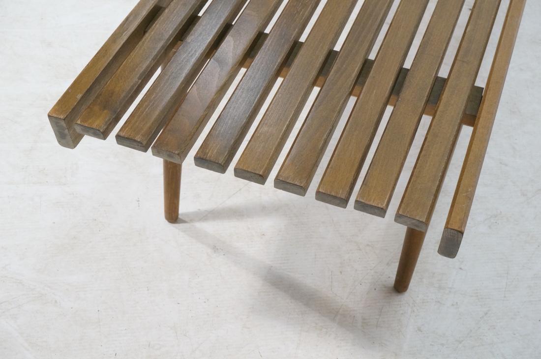 GEORGE NELSON Style American Modern Slat Bench. C - 7