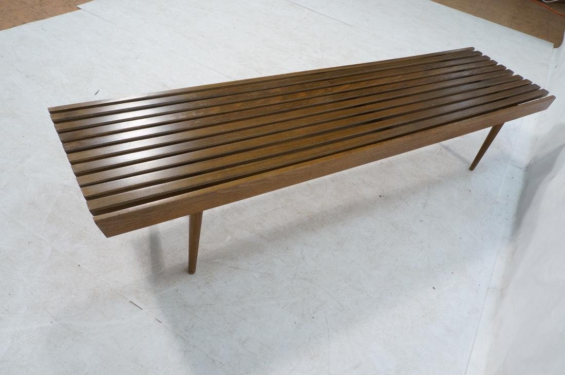 GEORGE NELSON Style American Modern Slat Bench. C - 8