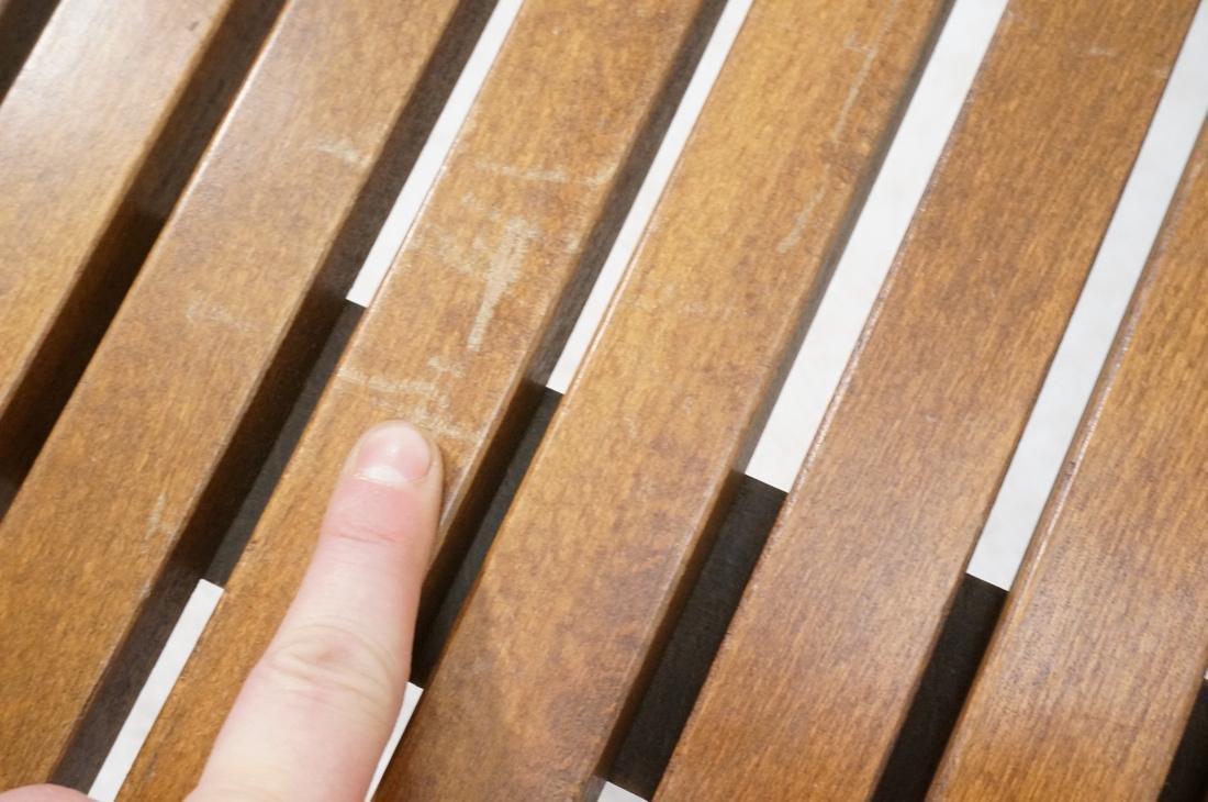 GEORGE NELSON Style Modern Walnut Slat Bench. Cof - 5