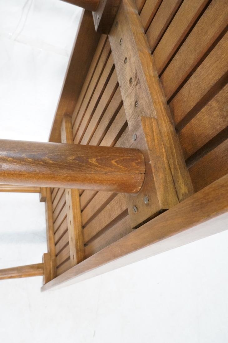 GEORGE NELSON Style Modern Walnut Slat Bench. Cof - 7