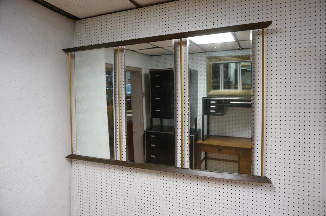 Modern American Walnut 3 Part Wall Mirror. Bevele - 2