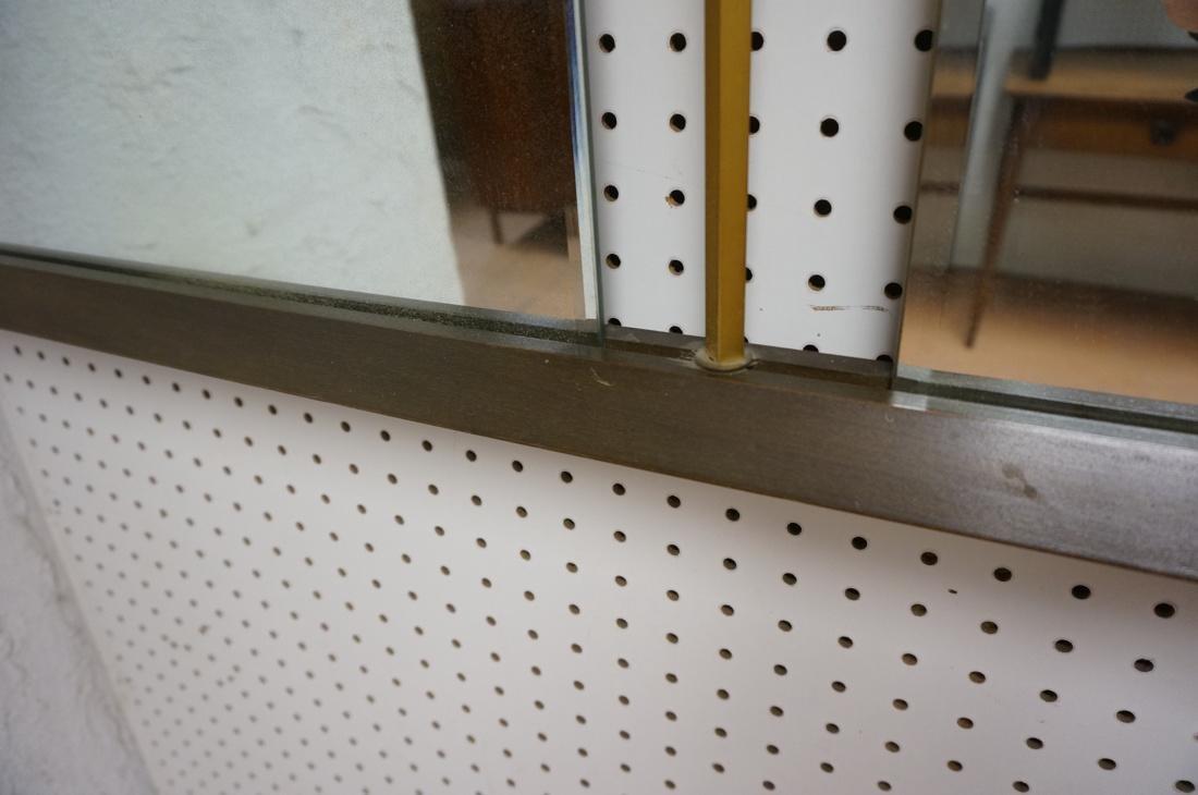 Modern American Walnut 3 Part Wall Mirror. Bevele - 6