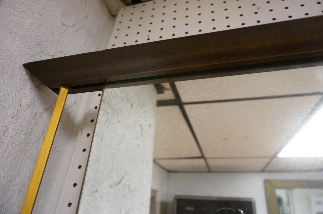Modern American Walnut 3 Part Wall Mirror. Bevele - 7