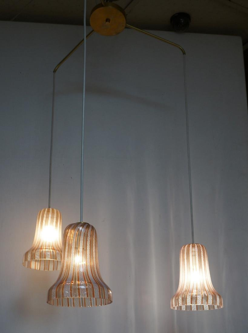 DINO MARTENS Murano Art Glass Chandelier. 3 Itali