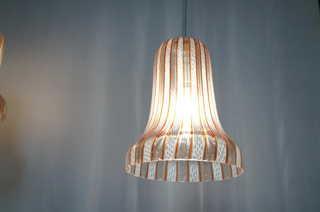 DINO MARTENS Murano Art Glass Chandelier. 3 Itali - 2