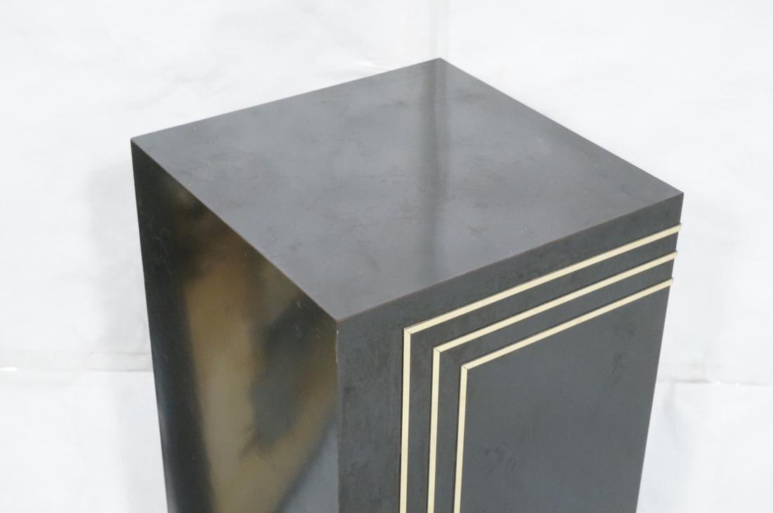 Modern Black & Brass Square Display Pedestal. Bla - 2