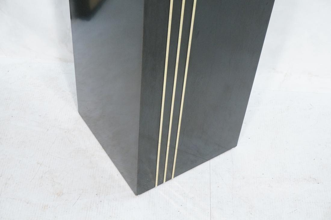 Modern Black & Brass Square Display Pedestal. Bla - 3