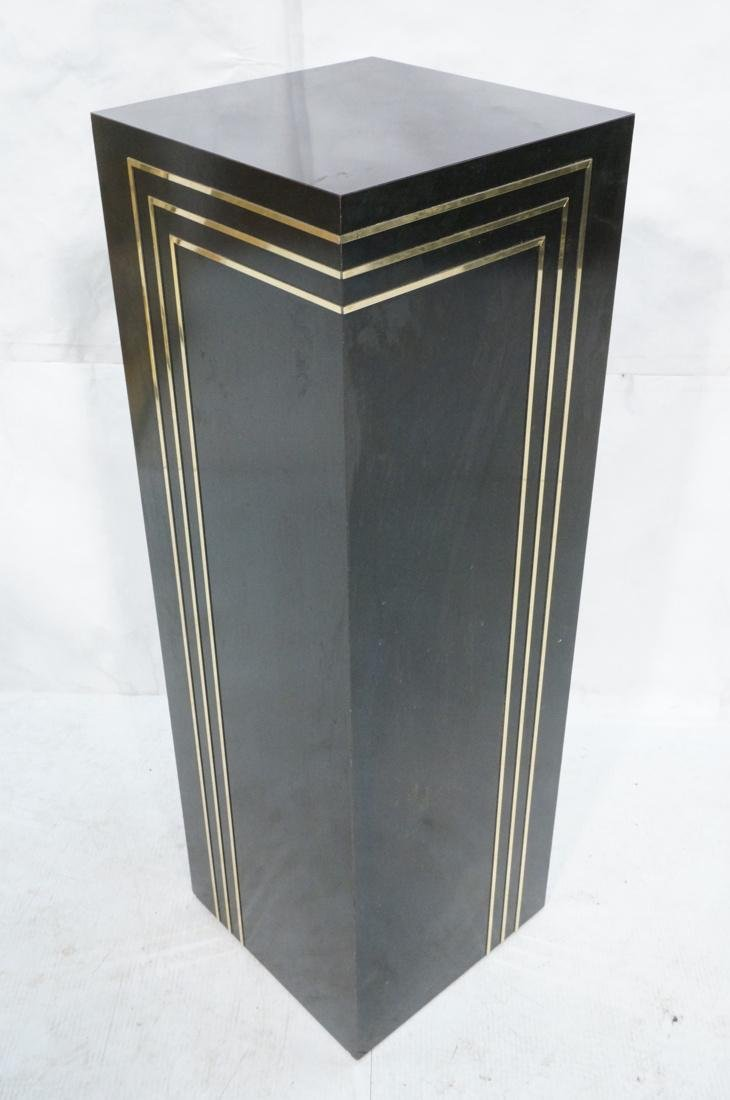 Modern Black & Brass Square Display Pedestal. Bla - 6