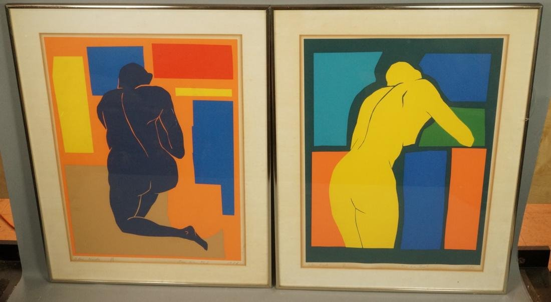2 Pc KIM WEINTRAUB Colorful Nude Prints. Matisse