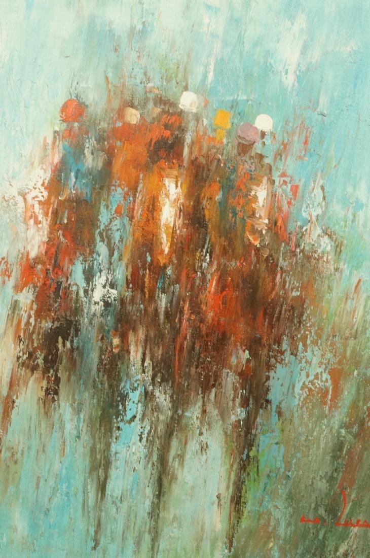 WILLIAM LUCAS Modernist Oil Painting Jockeys and