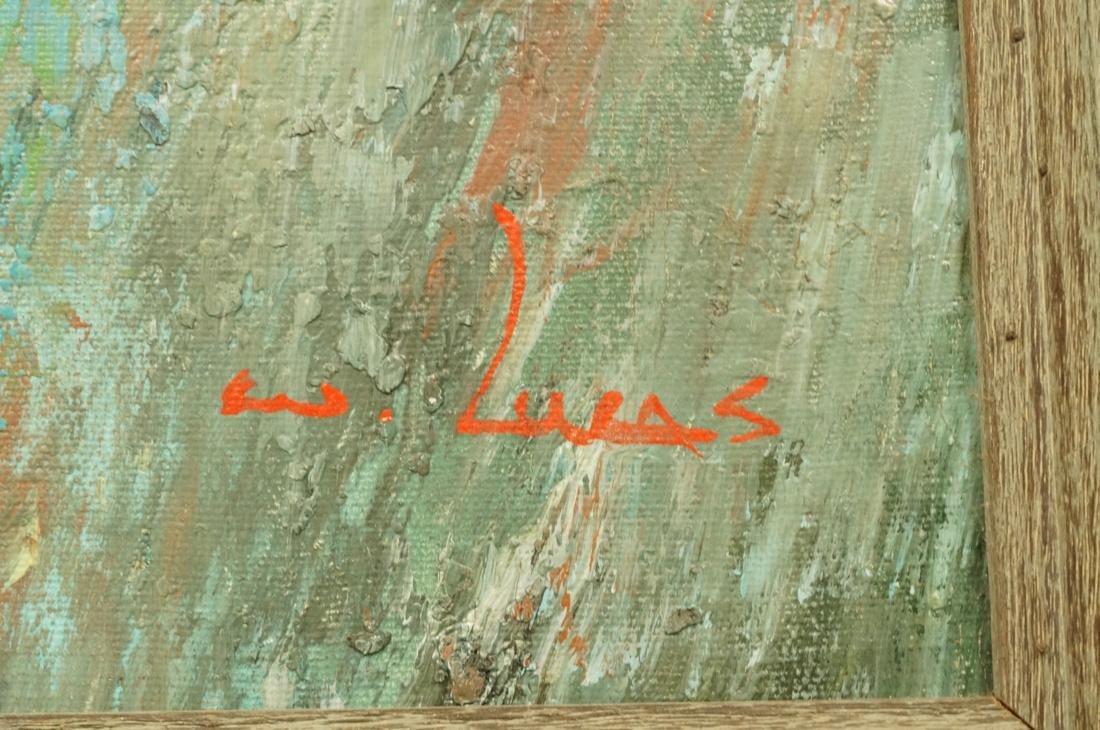 WILLIAM LUCAS Modernist Oil Painting Jockeys and - 3