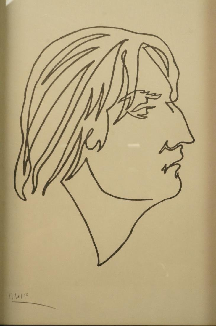 4 BEN WOLF One Line Portrait Drawings. Philadelph - 3