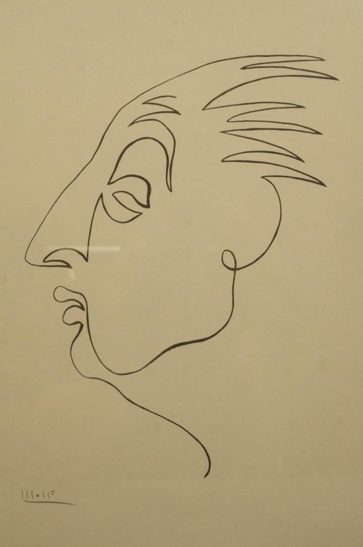 4 BEN WOLF One Line Portrait Drawings. Philadelph - 4