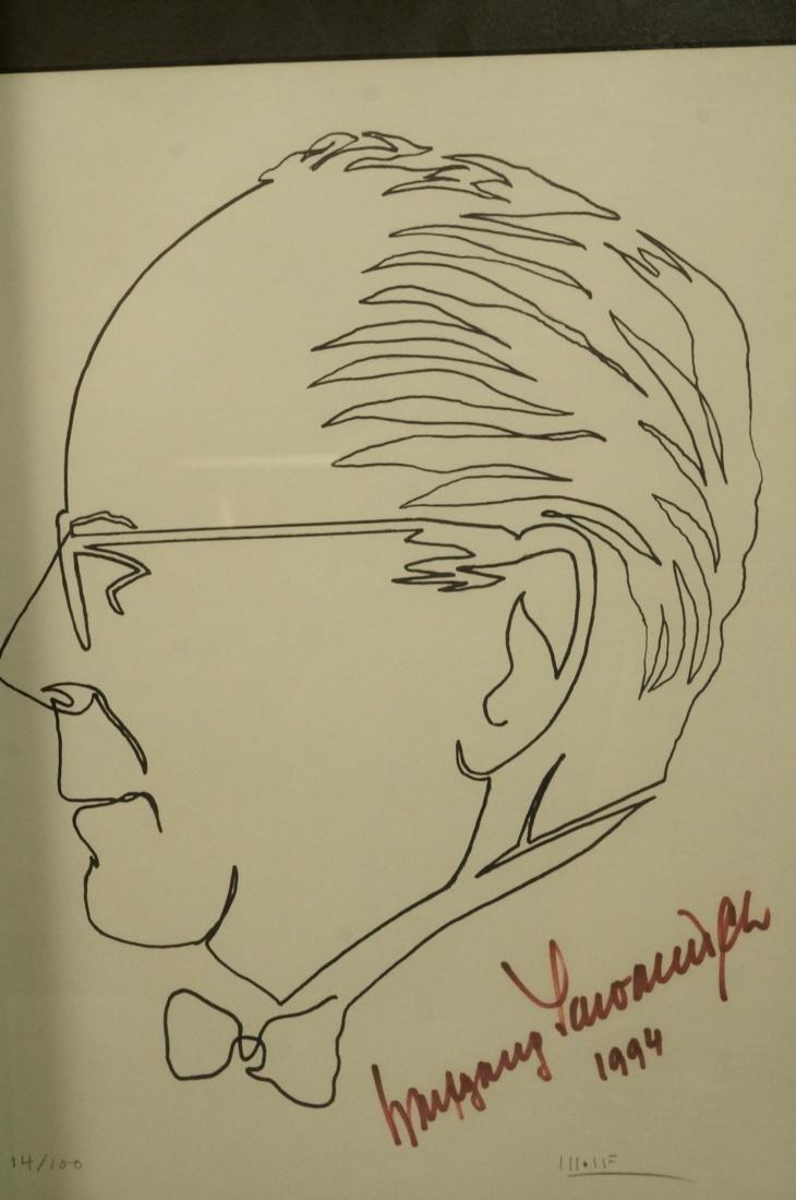 4 BEN WOLF One Line Portrait Drawings. Philadelph - 5