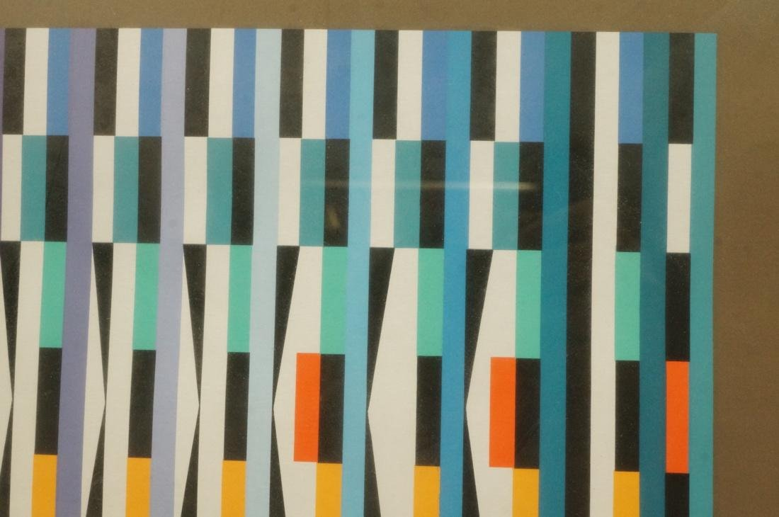 YAACOV AGAM Colorful Op Art Silkscreen Print. Pen - 5