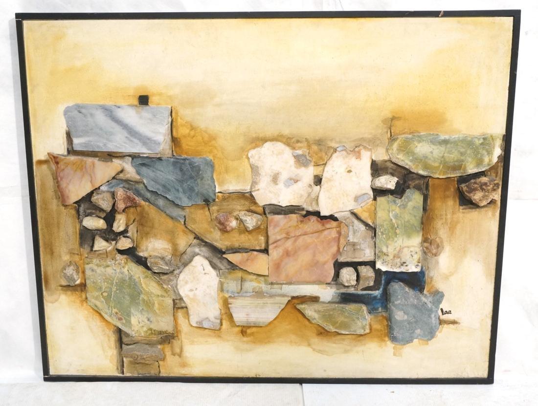 Large Richard LEE Rock Stone Collage Brutalist As