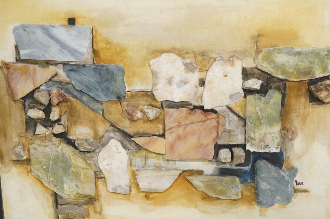 Large Richard LEE Rock Stone Collage Brutalist As - 2