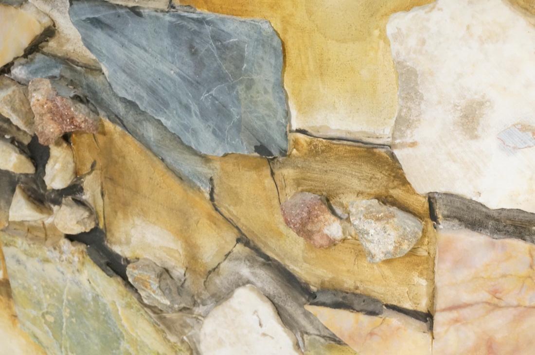 Large Richard LEE Rock Stone Collage Brutalist As - 5