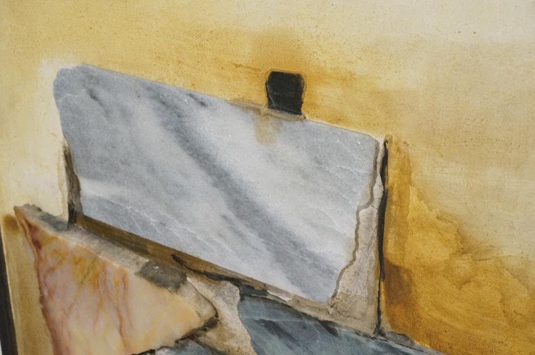 Large Richard LEE Rock Stone Collage Brutalist As - 6