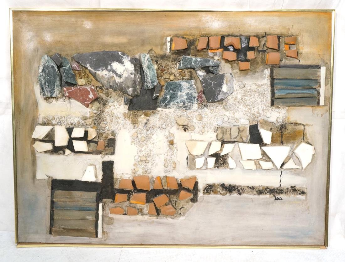 Large Richard LEE Rock Stone Collage Brutalist As