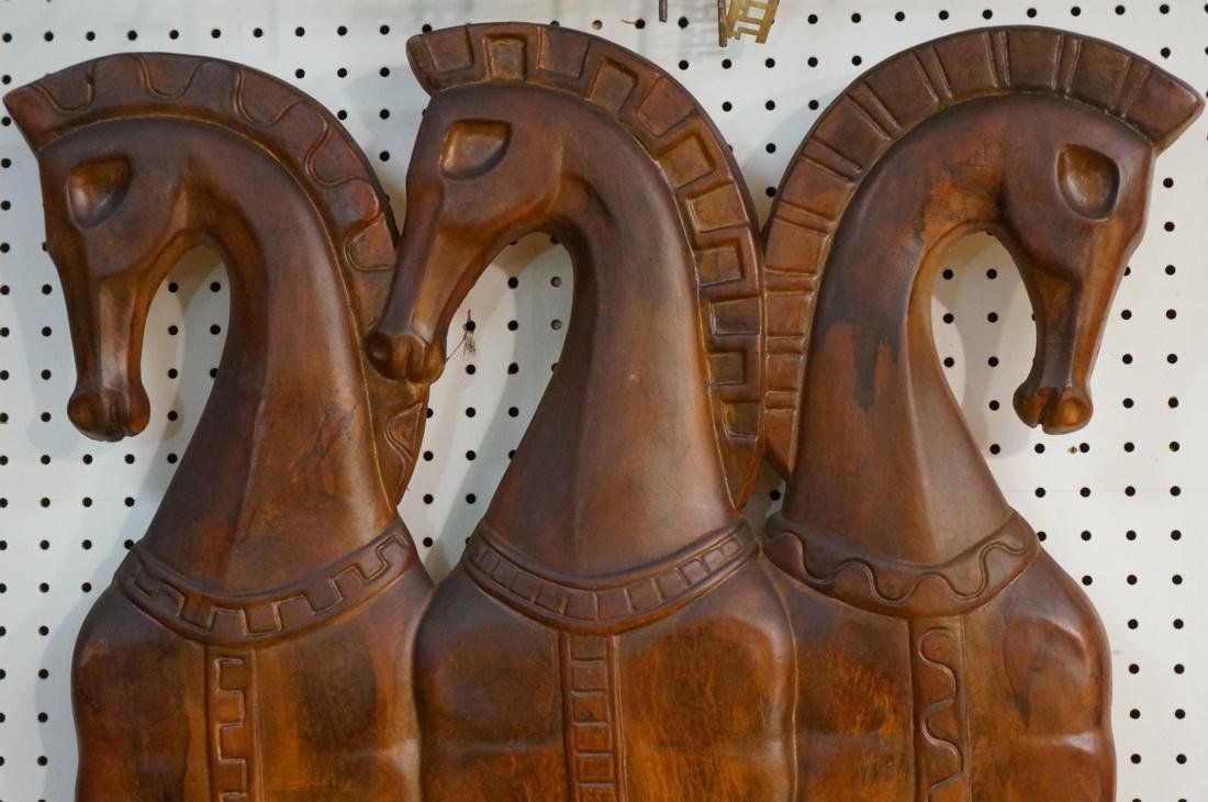 WEINBERG style Cast Resin Wall Sculpture Horses. - 2