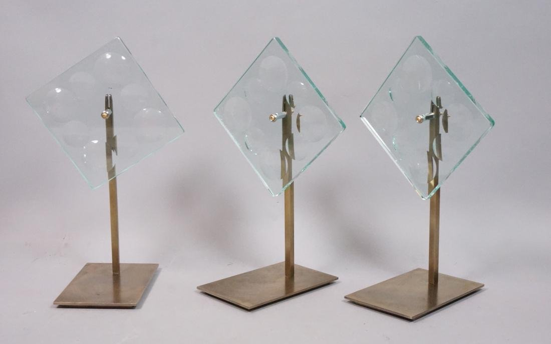 Set of 3 Square Magiscope Sculptures on Custom Br