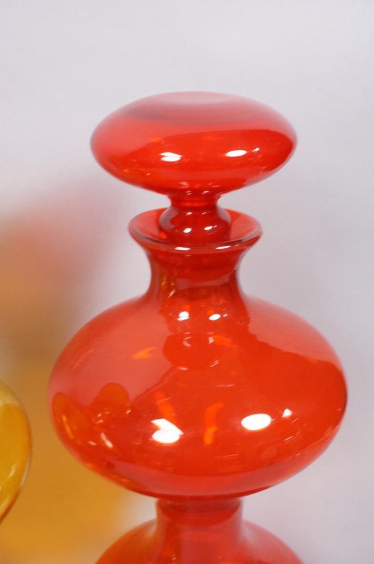 Lot of 3 Large Modern Art Glass Bottles Vases.  B - 4