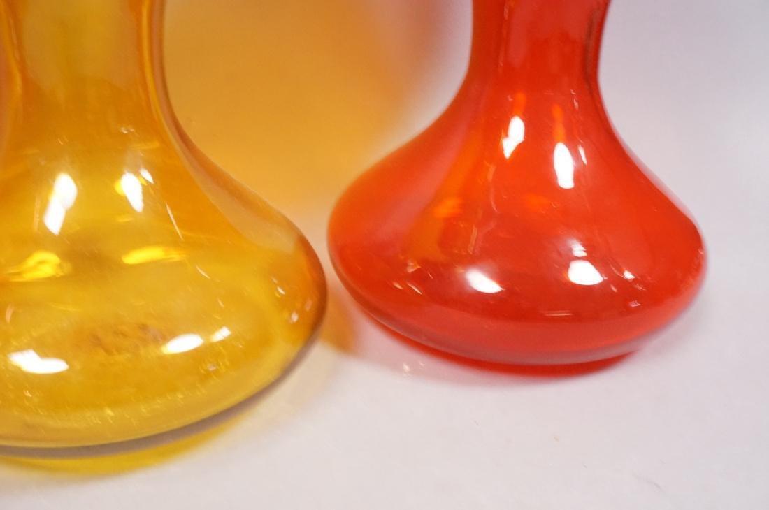 Lot of 3 Large Modern Art Glass Bottles Vases.  B - 6