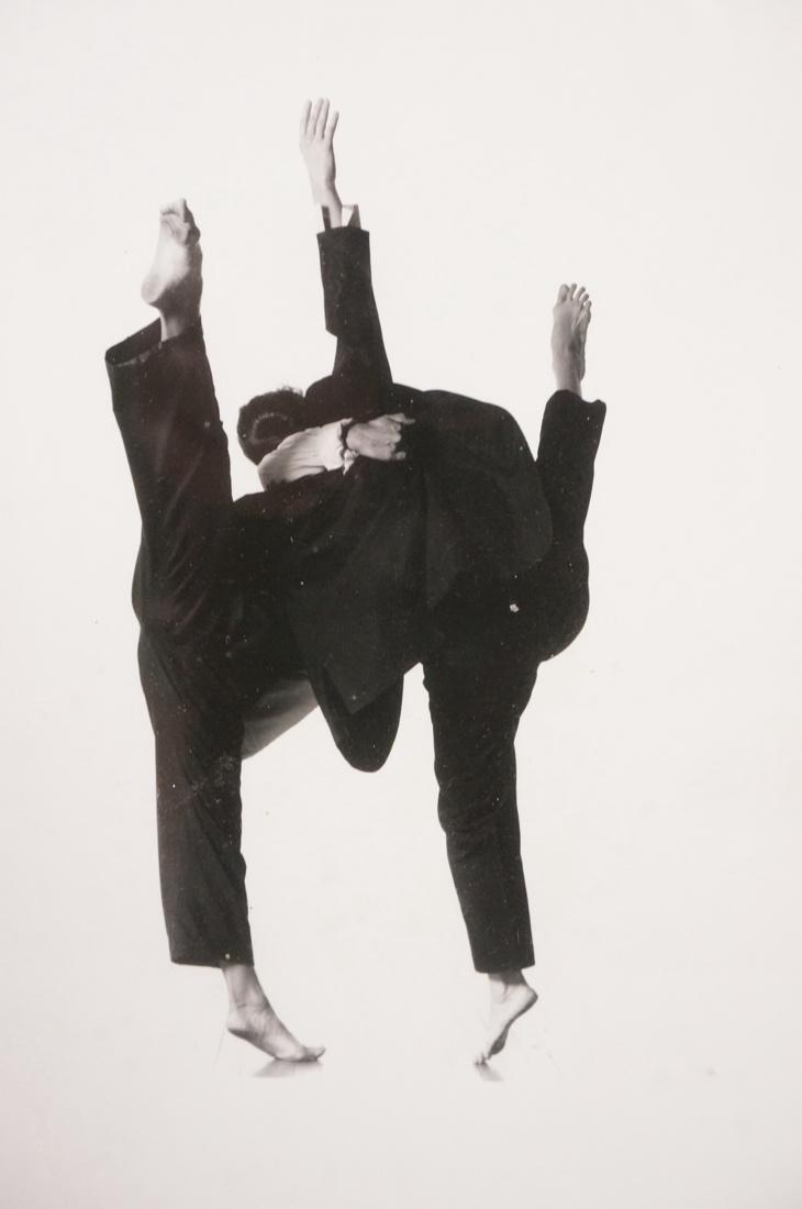 Framed ARNOLD NEWMAN B&W Photo 2 Dancers in black