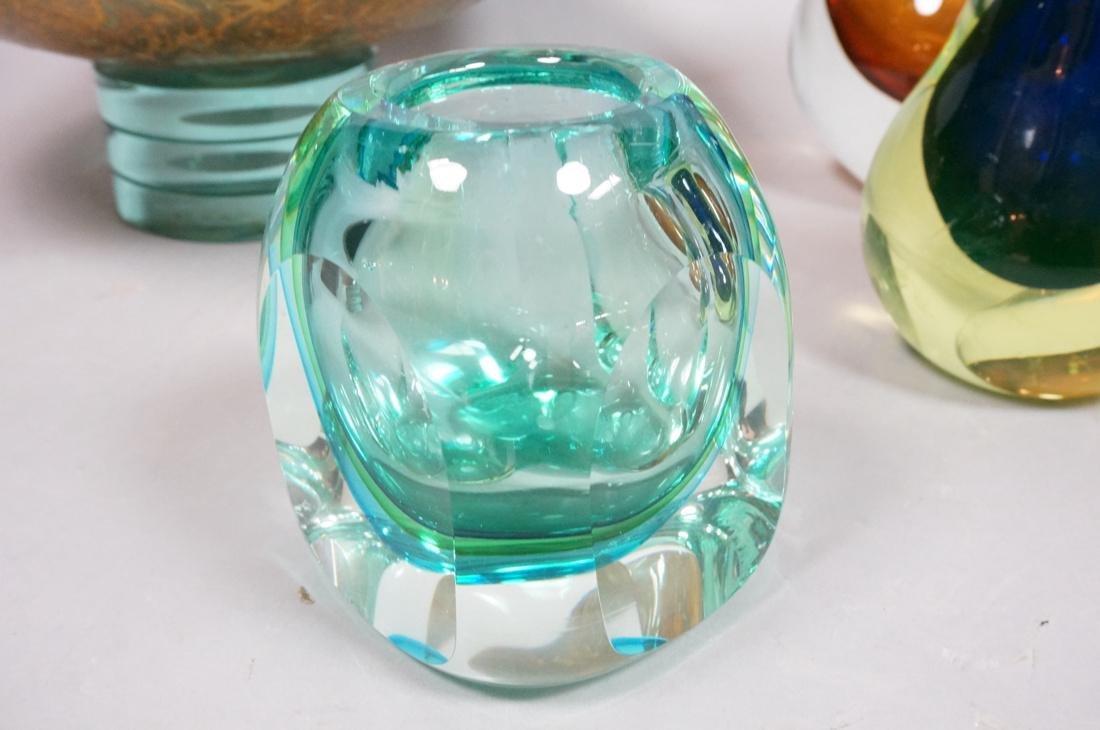 6 pc Art Glass Lot American Italian Scandinavian. - 2