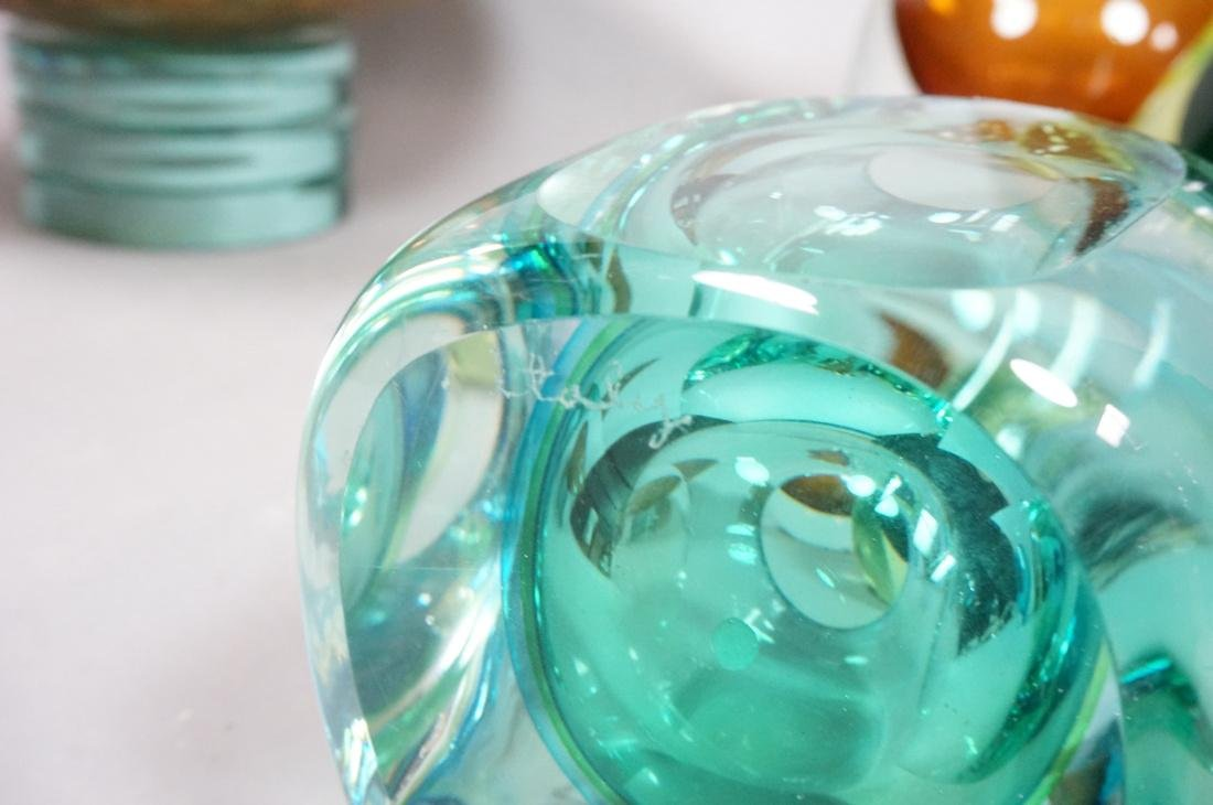 6 pc Art Glass Lot American Italian Scandinavian. - 6