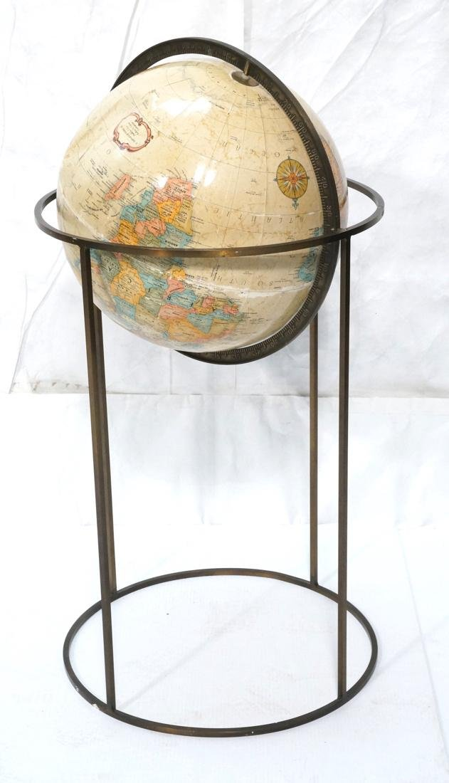 REPLOGLE World Globe PAUL MCCOBB Style Base. Thin
