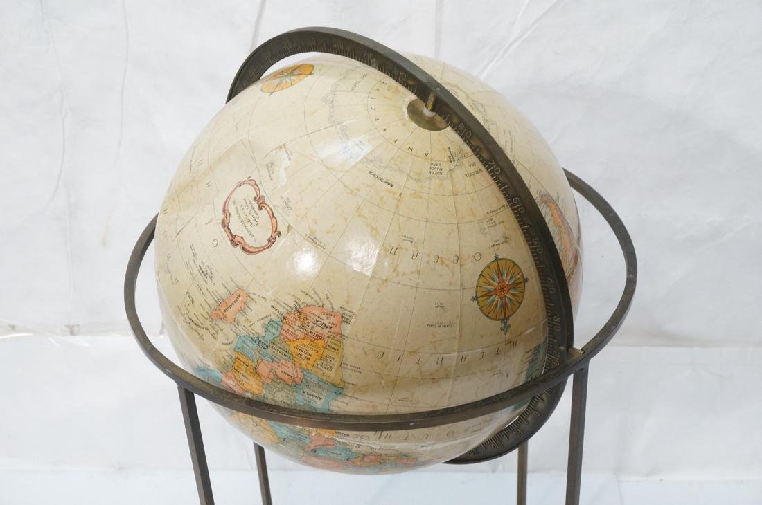 REPLOGLE World Globe PAUL MCCOBB Style Base. Thin - 2