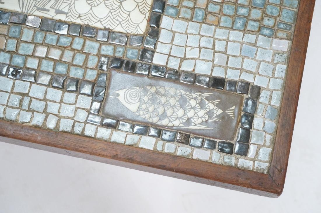 Signed HOLLEMAN Decorative Tile Top Coffee Table. - 6