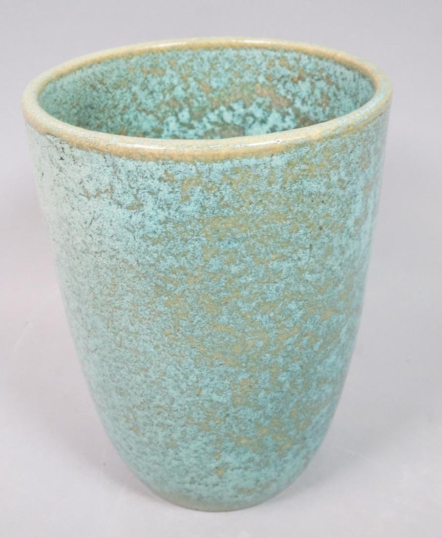 GALLOWAY American Art Pottery Vase Mottled turquo
