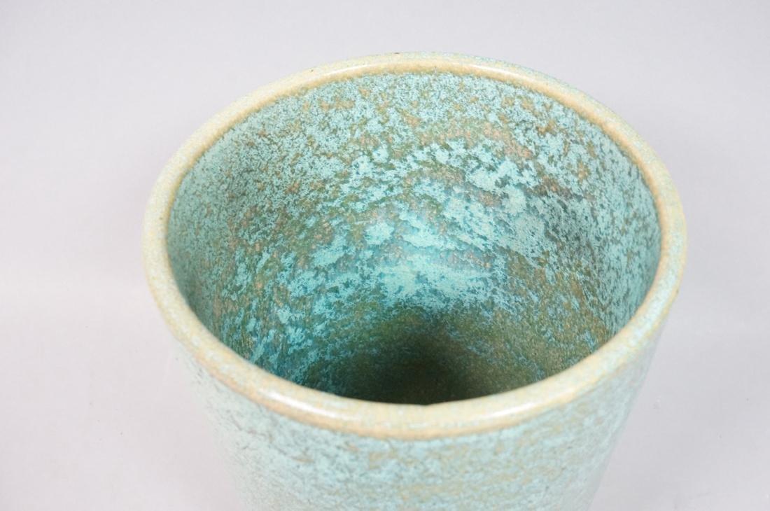 GALLOWAY American Art Pottery Vase Mottled turquo - 2