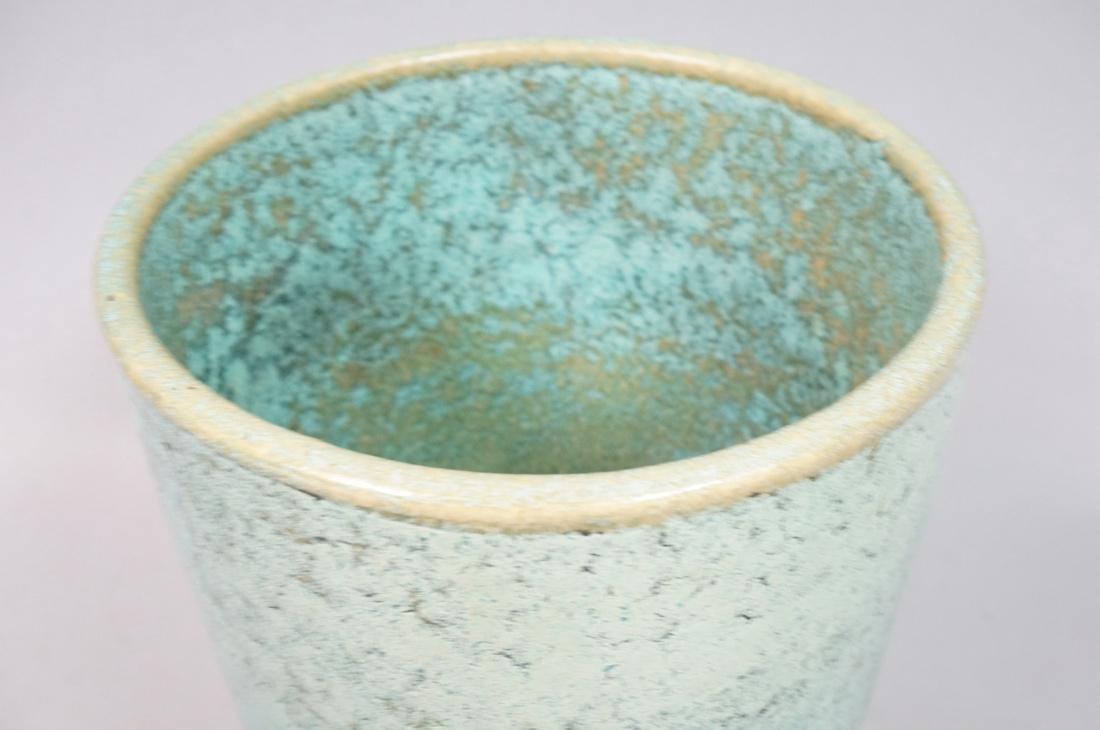 GALLOWAY American Art Pottery Vase Mottled turquo - 4