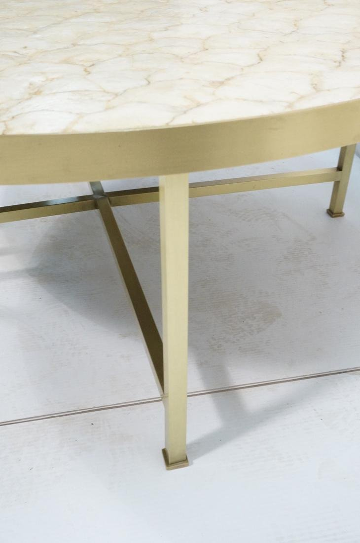 Modernist Round Capiz Shell Cocktail Coffee Table - 6