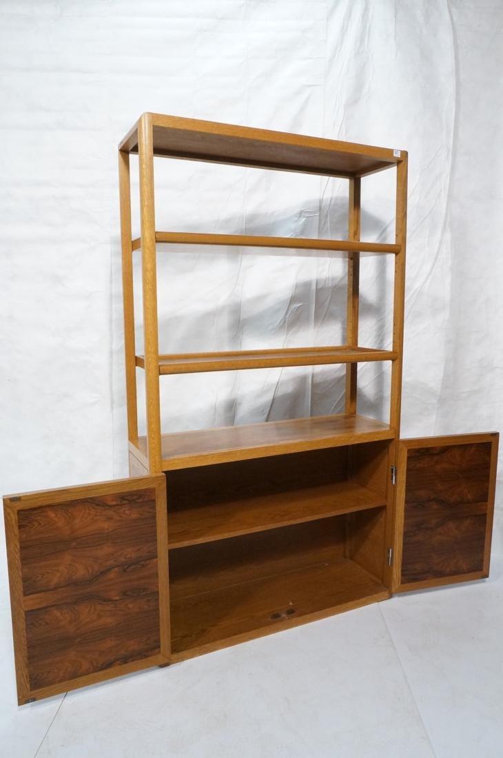 DUNBAR Rosewood & Oak Etagere Cabinet. Curved oak - 2