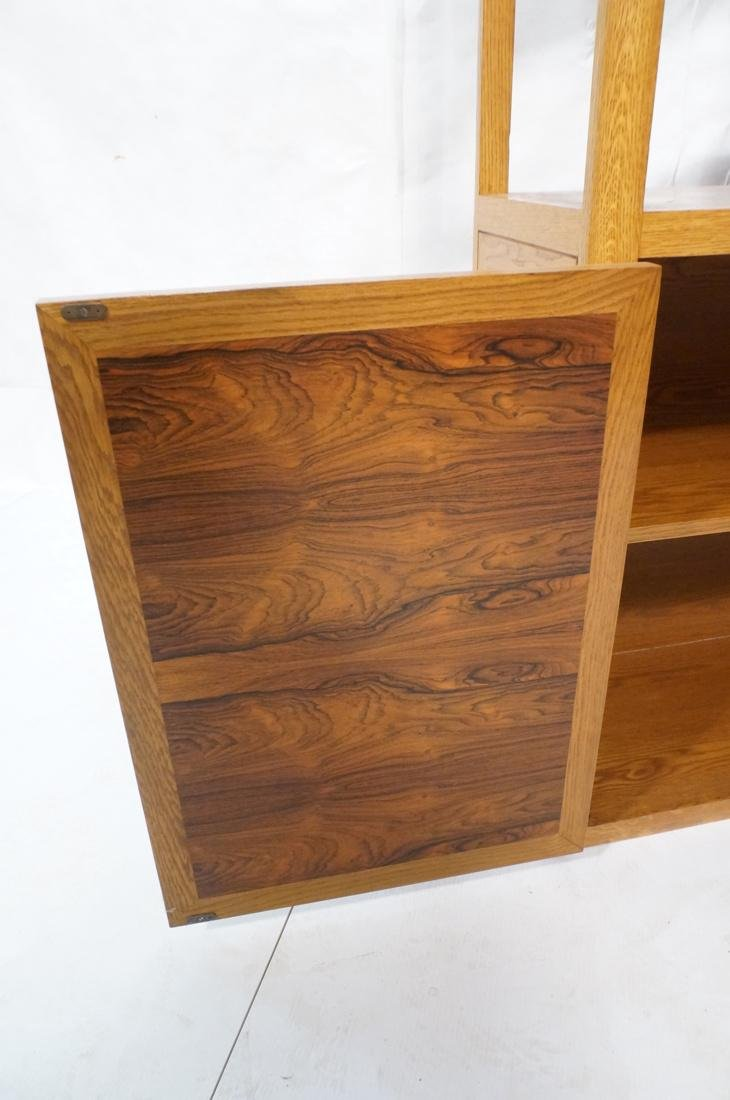 DUNBAR Rosewood & Oak Etagere Cabinet. Curved oak - 3