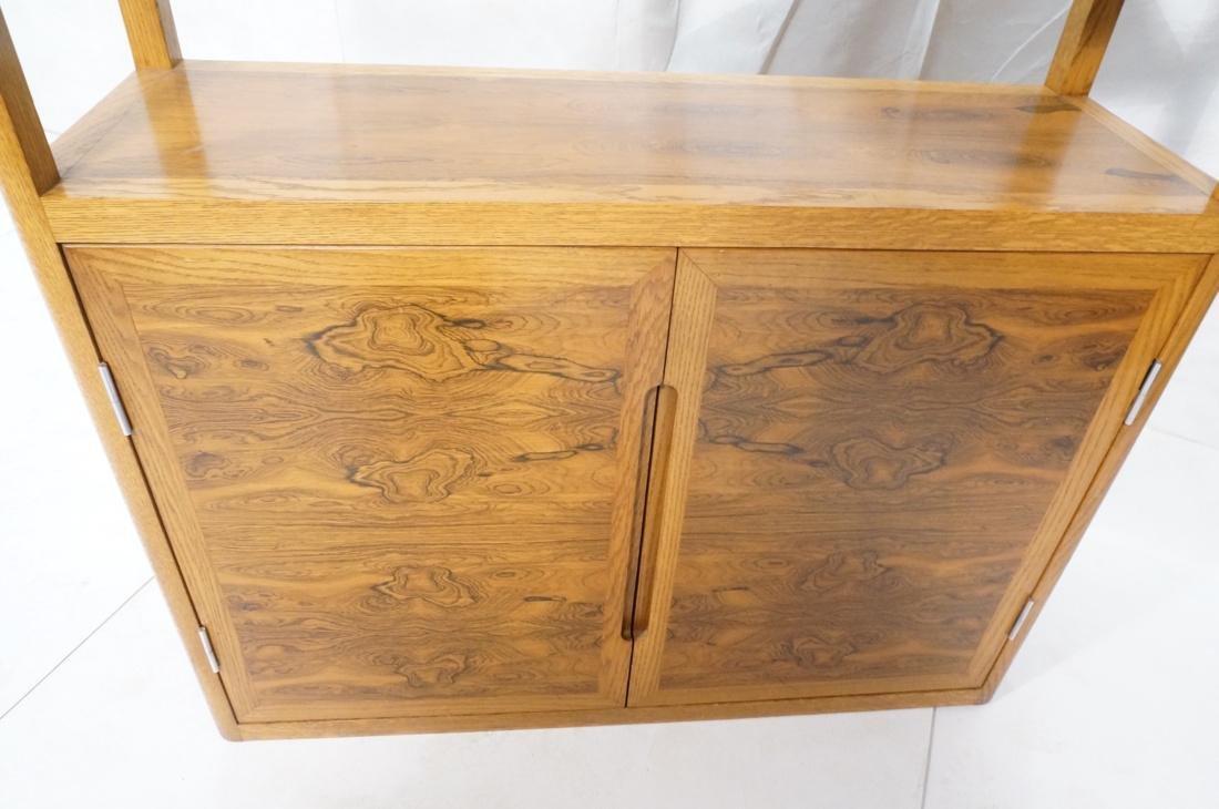 DUNBAR Rosewood & Oak Etagere Cabinet. Curved oak - 4