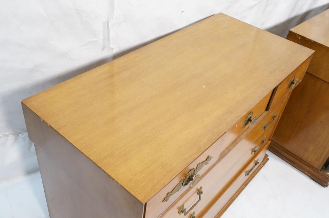 Pr Regency Style Mahogany 6 Drawer Chests. Eboniz - 4